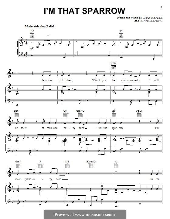 I'm That Sparrow: Para vocais e piano (ou Guitarra) by Dennis Dearing