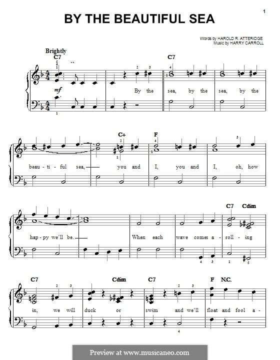 By the Beautiful Sea (Spike Jones): Facil para o piano by Harold Richard Atteridge, Harry Carroll