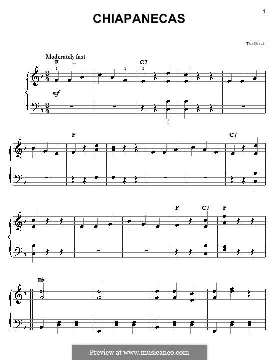 Chiapanecas: Para Piano by folklore