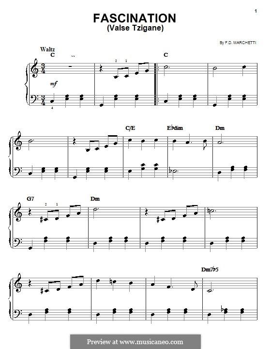 Fascination: Facil para o piano by Fermo Dante Marchetti