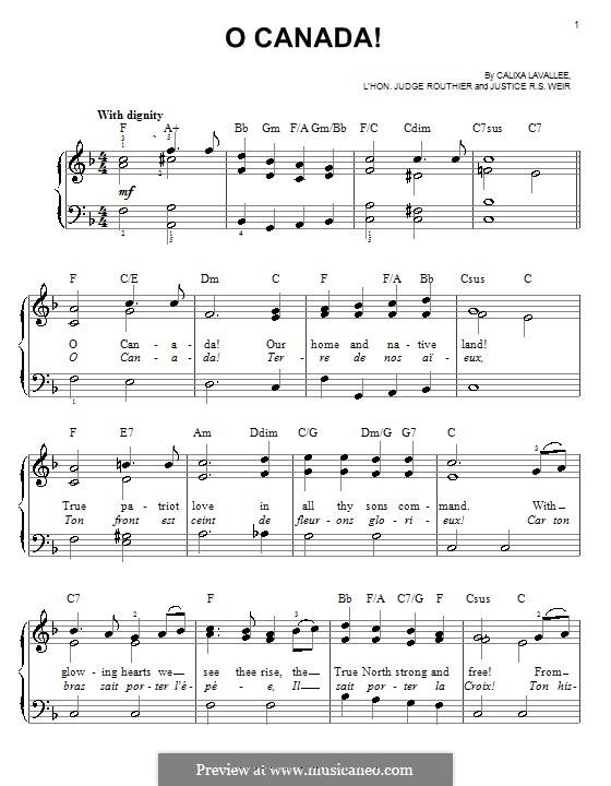 Ô Canada: Para Piano by Calixa Lavallée