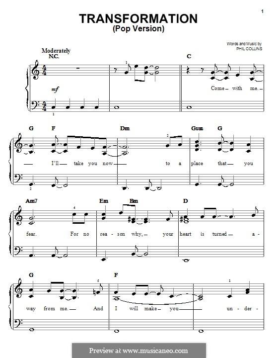 Transformation (from Walt Disney's Brother Bear): versão pop by Phil Collins