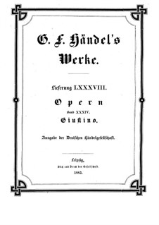 Giustino, HWV 37: Giustino by Georg Friedrich Händel