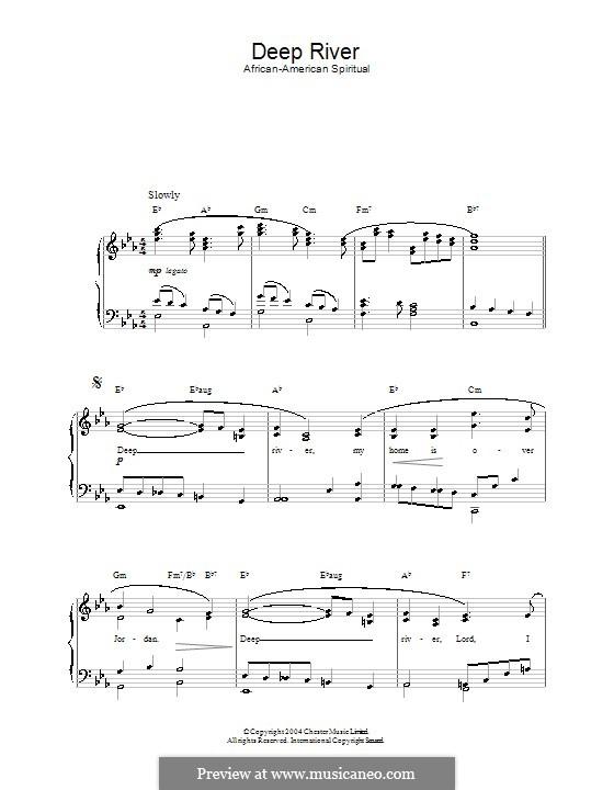 Deep River: Para vocais e piano by folklore