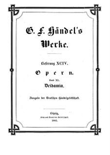 Deidamia, HWV 42: partitura completa by Georg Friedrich Händel