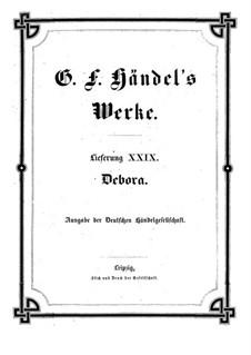 Deborah, HWV 51: partitura completa by Georg Friedrich Händel