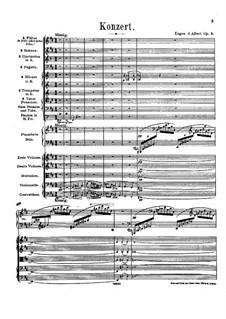 Piano Concerto No.1 in B Minor, Op.2: Partitura completa by Eugen d'Albert