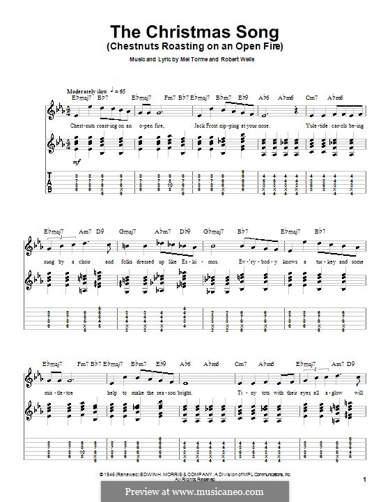 The Christmas Song (Chestnuts Roasting on an Open Fire): Para guitarra com guia by Mel Tormé, Robert Wells