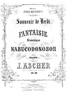 Souvenir de Verdi, Op.69: Souvenir de Verdi by Joseph Ascher