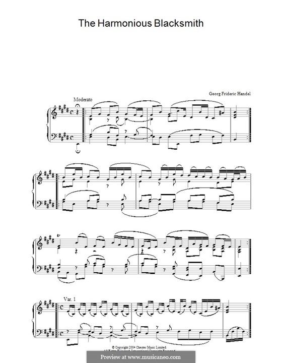 Suite No.5 in E Major, HWV 430: movimento III by Georg Friedrich Händel