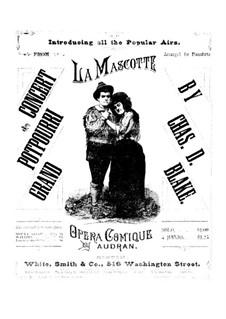 La mascotte (The Mascot): Potpourri for piano four hands – parts by Edmond Audran