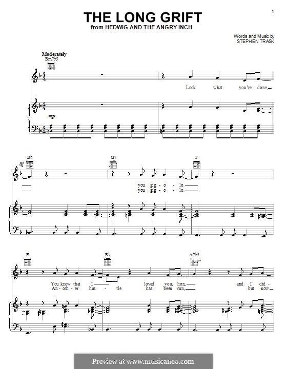 The Long Grift: Para vocais e piano (ou Guitarra) by Stephen Trask
