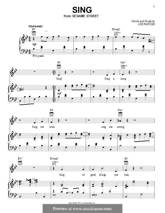 Sing (The Carpenters): Para vocais e piano (ou Guitarra) by Joe Raposo