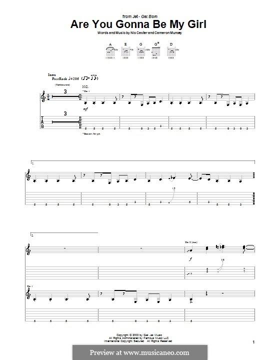 Are You Gonna Be My Girl (Jet): Para guitarra com guia by Cameron Muncey, Nic Cester