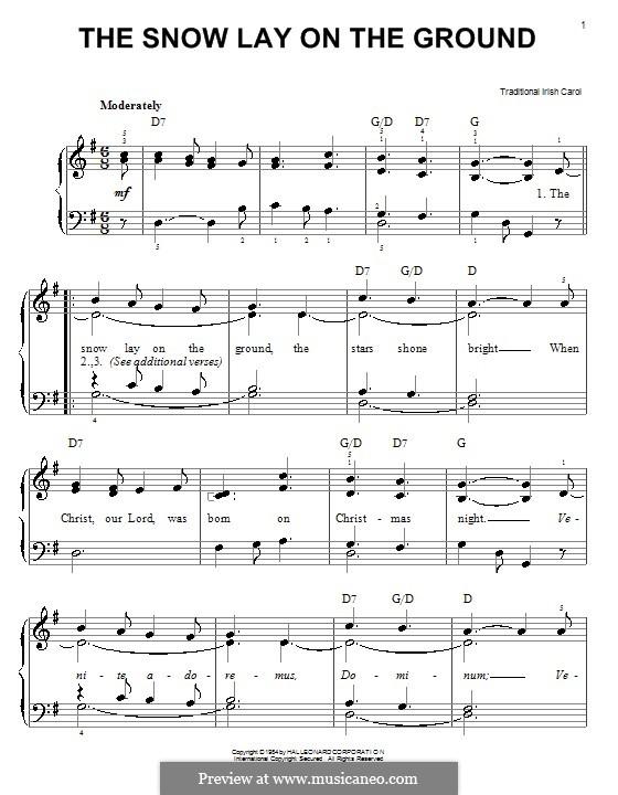 The Snow Lay on the Ground: Для фортепиано (легкий уровень) by folklore