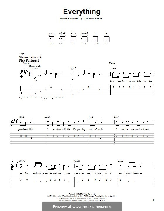 Everything: Для гитары (очень легкая версия) by Alanis Morissette