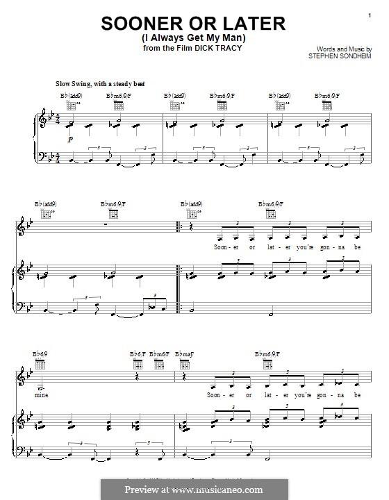 Sooner or Later (I Always Get My Man): Для голоса и фортепиано (или гитары) by Stephen Sondheim