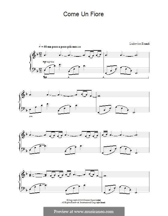 Come un Fiore: Для фортепиано by Ludovico Einaudi