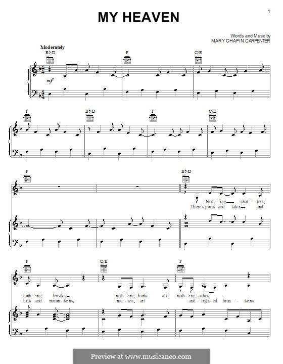 My Heaven: Для голоса и фортепиано (или гитары) by Mary Chapin Carpenter