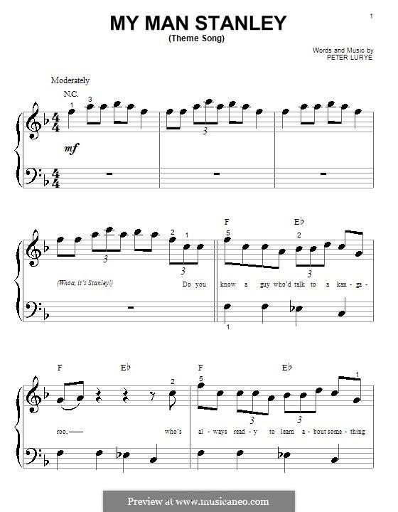 My Man Stanley (Theme Song): Для фортепиано (очень легкая версия) by Peter Lurye