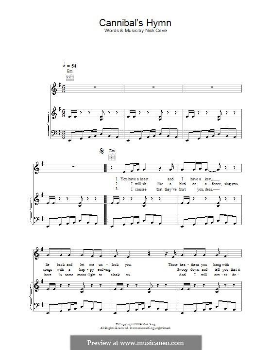 Cannibal's Hymn: Для голоса и фортепиано (или гитары) by Nick Cave