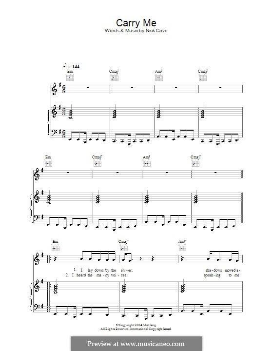 Carry Me: Для голоса и фортепиано (или гитары) by Nick Cave
