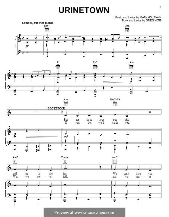 Urinetown: Для голоса и фортепиано (или гитары) by Greg Kotis, Mark Hollmann
