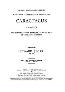 Каратак (Кантата), Op.35: Клавир с вокальной партией by Эдуард Элгар