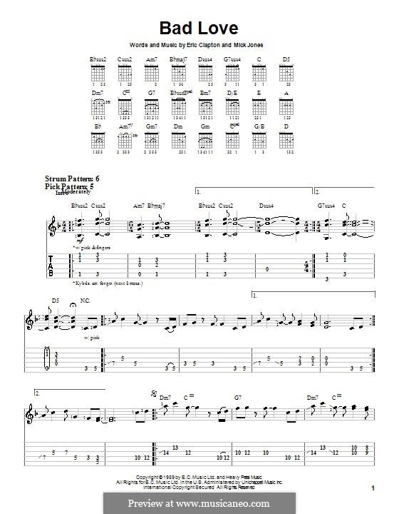 Bad Love: Для гитары (очень легкая версия) by Mick Jones