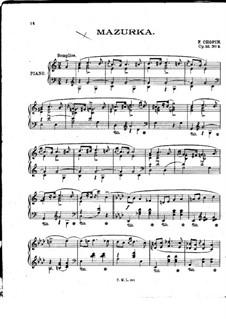 Мазурки, Op.33: No.3 до мажор by Фредерик Шопен