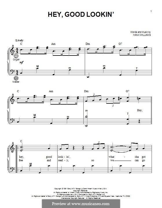 Hey, Good Lookin': Для аккордеона by Hank Williams