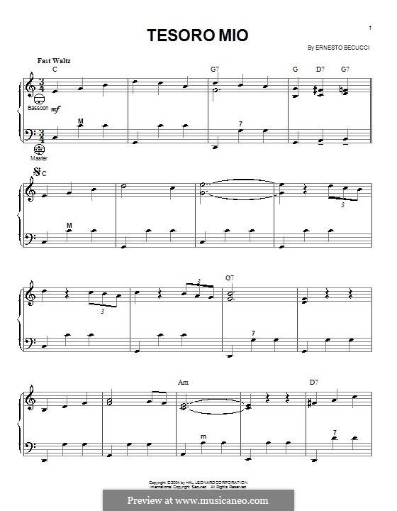 Tesoro mio, Op.228: Для аккордеона by Эрнесто Бекуччи