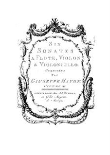 Шесть сонат для флейты, скрипки и виолончели: Шесть сонат для флейты, скрипки и виолончели by Йозеф Гайдн