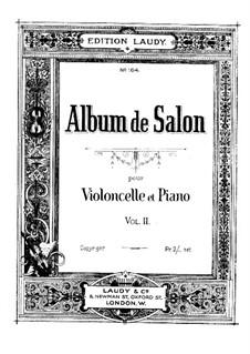 Романс для виолончели и фортепиано, Op.12 No.1: Партитура, сольная партия by Уильям тен Хэв