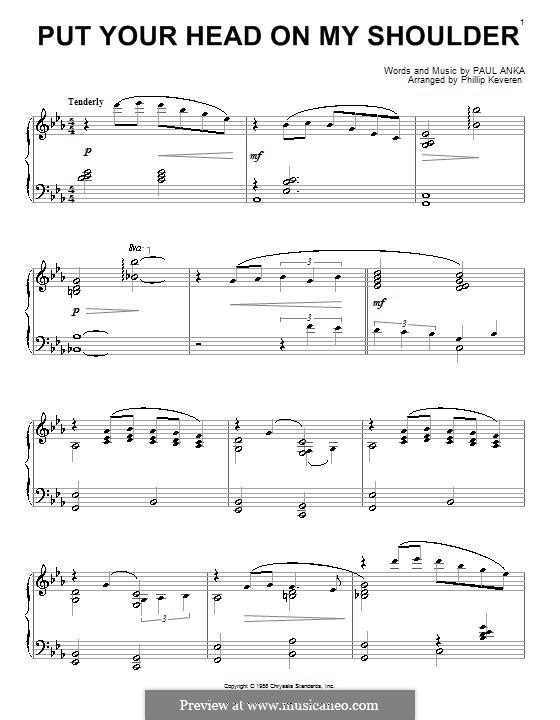 Put Your Head on My Shoulder: Для фортепиано by Paul Anka