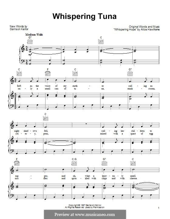Whispering Tuna: Для голоса и фортепиано (или гитары) by Alice Hawthorne