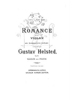 Романс для скрипки с оркестром, Op.11: Аранжировка для скрипки и фортепиано by Густав Хельстед