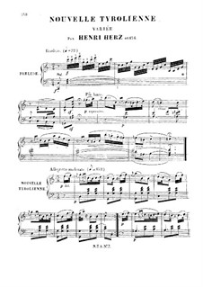 Nouvelle Tyrolienne. Variations, Op.154: Nouvelle Tyrolienne. Variations by Анри Герц