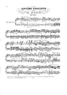 Концерт для фортепиано с оркестром No.7 си минор, Op.207: Концерт для фортепиано с оркестром No.7 си минор by Анри Герц