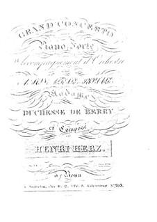 Концерт для фортепиано с оркестром No.1 дя мажор, Op.34: Концерт для фортепиано с оркестром No.1 дя мажор by Анри Герц