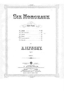 Шесть пьес для фортепиано, Op.17: Шесть пьес для фортепиано by Александр Ильинский