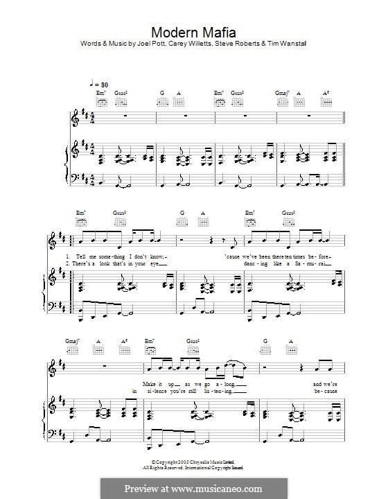Modern Mafia (Athlete): Для голоса и фортепиано (или гитары) by Carey Willetts, Joel Pott, Steven Roberts, Timothy Wanstall