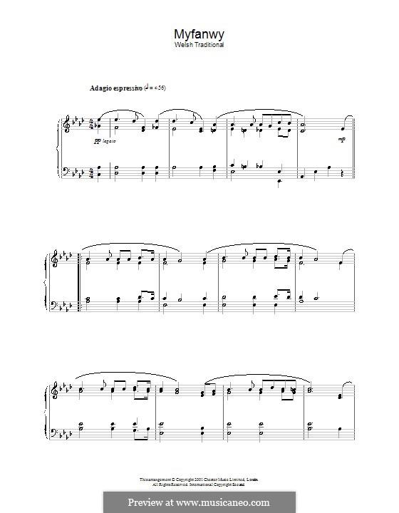 Myfanwy: Для фортепиано by folklore