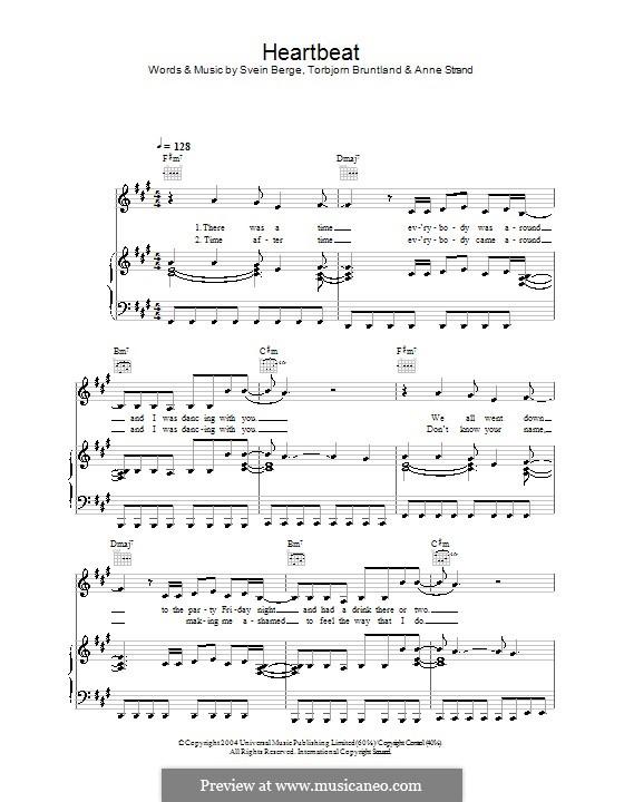 My Heartbeat (Annie): Для голоса и фортепиано (или гитары) by Anne Strand, Svein Berge, Torbjorn Bruntland