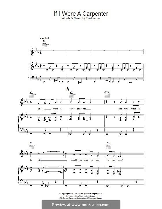 If I Were a Carpenter: Для голоса и фортепиано (или гитары) by Tim Hardin