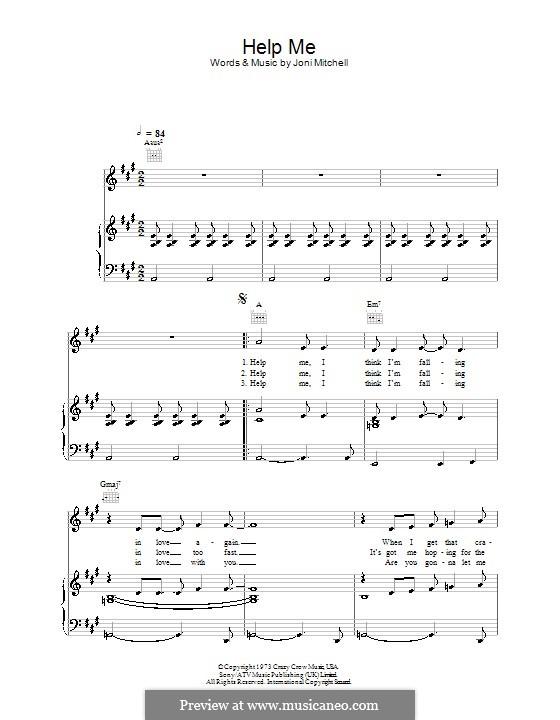 Help Me: Для голоса и фортепиано (или гитары) by Joni Mitchell
