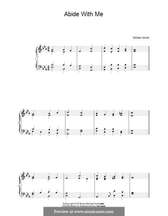 Пребудь со мной: Для фортепиано by Уильям Генри Монк