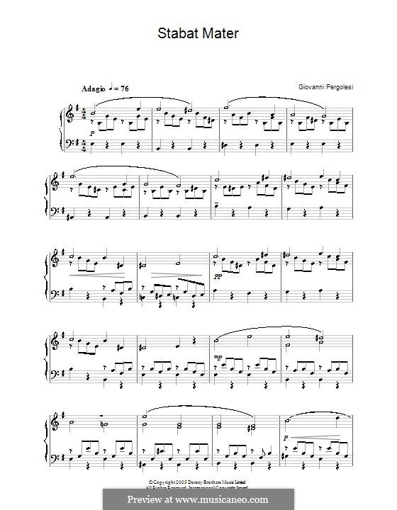 Stabat Mater: Клавир с вокальной партией (English text) by Джованни Баттиста Перголези