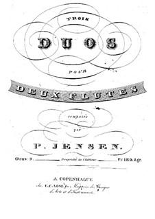 Три дуэта для двух флейт, Op.9: Три дуэта для двух флейт by Нильс Петер Енсен