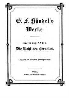 Выбор Геракла, HWV 69: Партитура by Георг Фридрих Гендель